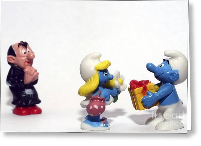 Smurf figurines Greeting Card by Amir Paz