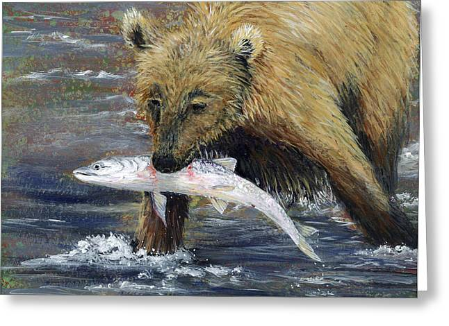 Alaska Greeting Cards - Snack Time Greeting Card by Dee Carpenter
