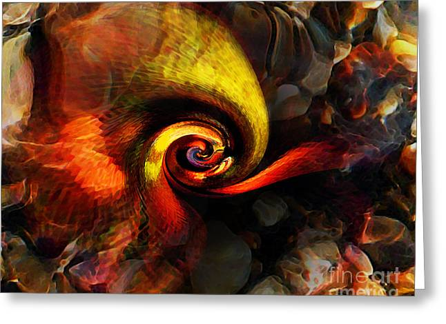 Stream Digital Art Greeting Cards - Snail 2 Greeting Card by Terril Heilman