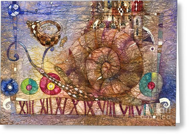 Snail Greeting Cards - Snail Greeting Card by Svetlana and Sabir Gadghievs