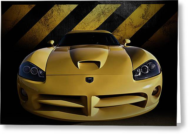 Mopar Greeting Cards - Snake Crossing Greeting Card by Douglas Pittman