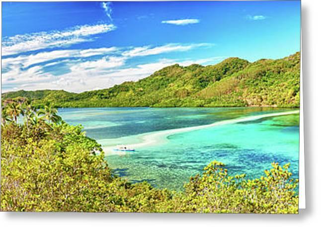 El-nido Greeting Cards - Snake island panorama Greeting Card by MotHaiBaPhoto Prints
