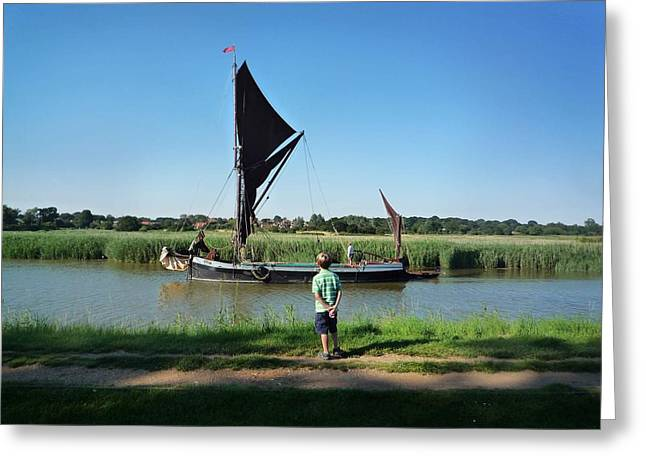 Snape Greeting Cards - Snape Maltings Greeting Card by Charles Stuart