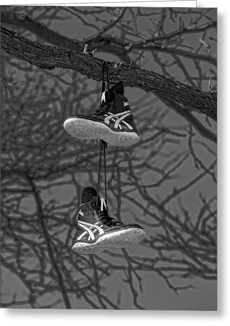 Sneakers Greeting Cards - Sneakers in Tree Greeting Card by Robert Ullmann