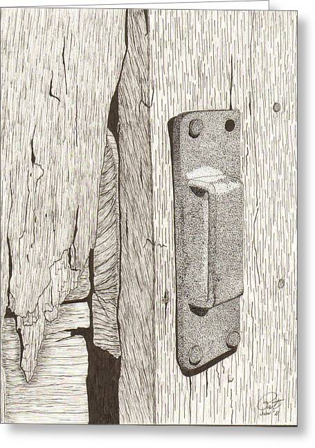 Hardware Drawings Greeting Cards - Sneck Greeting Card by Pat Price