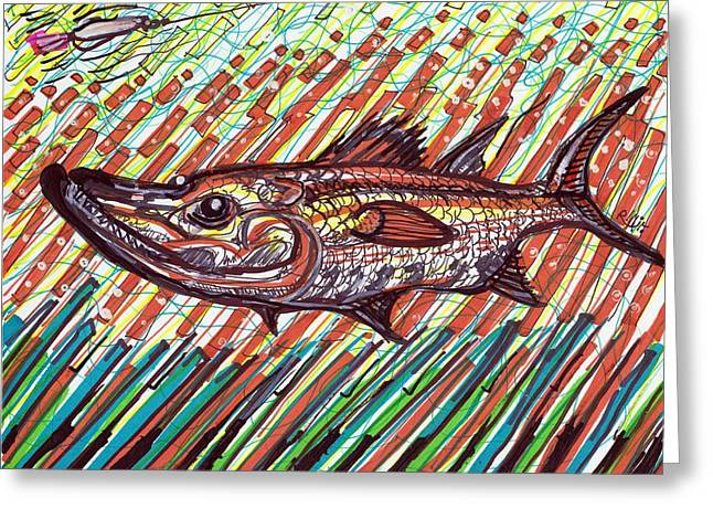 Surf Art Drawings Greeting Cards - Snookey Greeting Card by Robert Wolverton Jr
