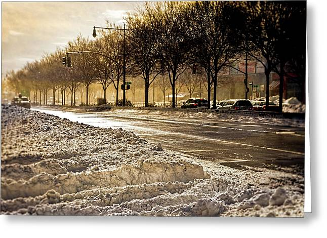 Chelsea Digital Art Greeting Cards - Snow and Sun on Twelfth Greeting Card by Chris Lord