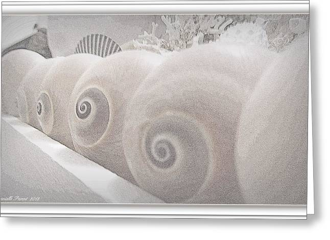 Seaside Decor Posters Greeting Cards - Snow Babies Greeting Card by Danielle  Parent