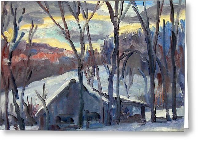 Snow Barn Berkshires Greeting Card by Thor Wickstrom