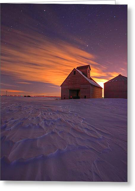 Snow Drifts Greeting Cards - Snow Bound Barn Greeting Card by Chris  Allington