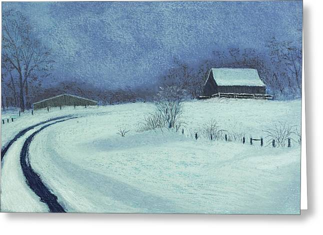 Barn Pastels Greeting Cards - Snow Bound Greeting Card by Garry McMichael