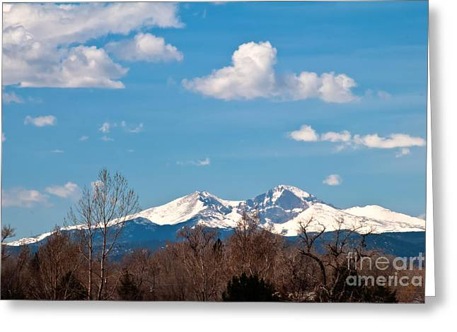Snow-capped Mountain Majesties Greeting Card by Harry Strharsky