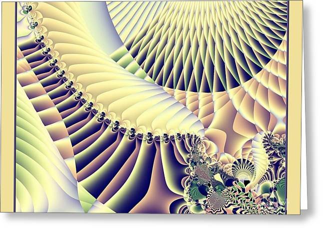 Snow Capped Mountains And Verdant Valleys Fractal 156 Greeting Card by Rose Santuci-Sofranko