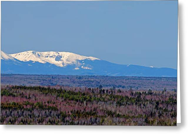 Maine Greeting Cards - Snow Capped Mt. Katahdin Greeting Card by Fred Nolan
