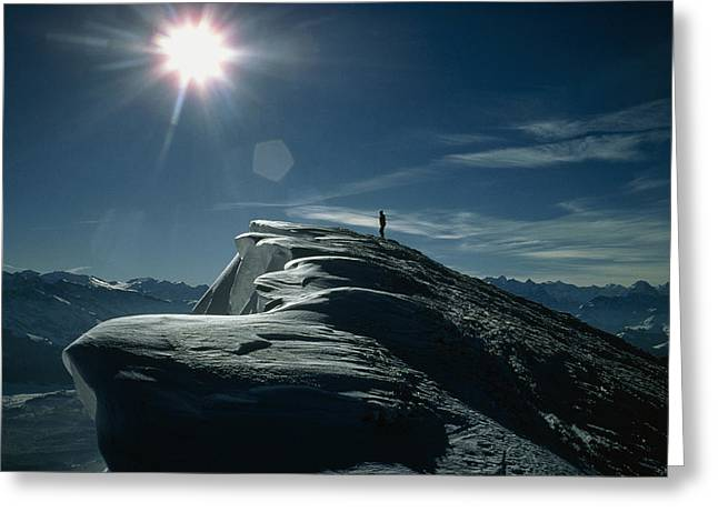 Snow Drifts Greeting Cards - Snow Cornices Greeting Card by Dr Juerg Alean