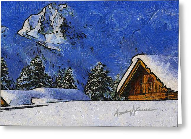 Frame House Greeting Cards - Snow Covered Greeting Card by Anthony Caruso