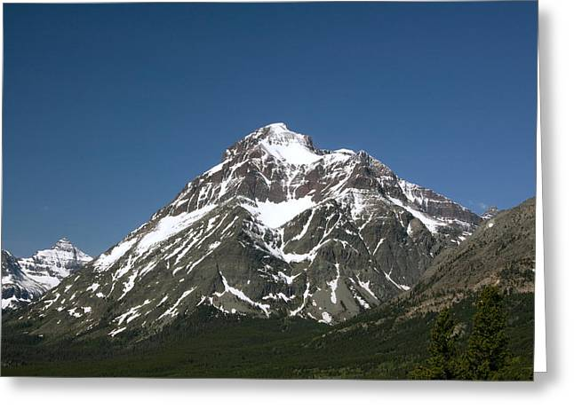 Snow Covered Mountain Greeting Card by Amanda Kiplinger