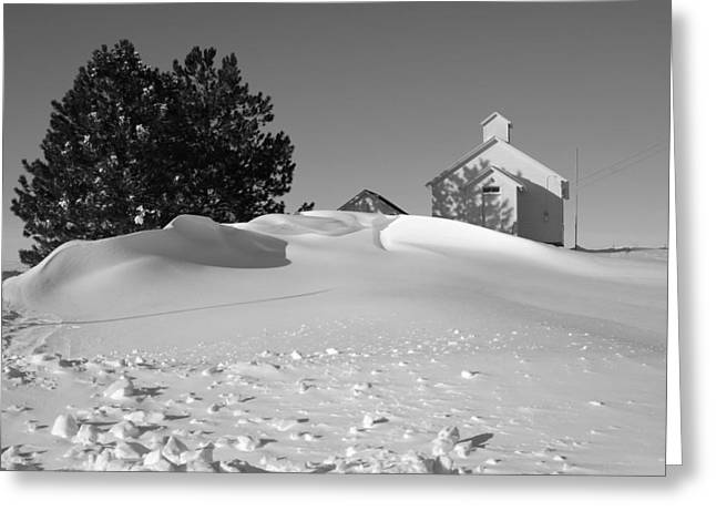 Snow Drift At School Greeting Card by Sam Perry