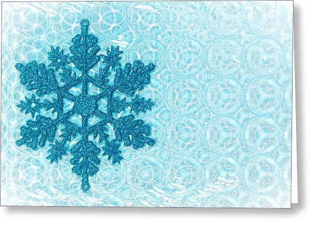 New Year Greeting Cards - Snow flake Greeting Card by Tom Gowanlock