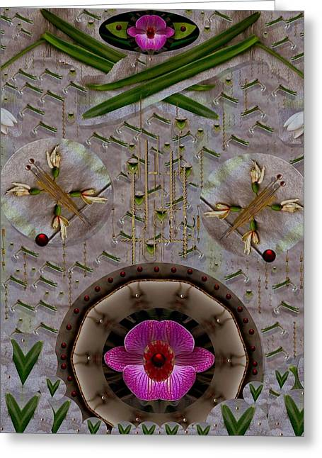 Snow Flowers And Orchids In Heavenly Wisdom Greeting Card by Pepita Selles