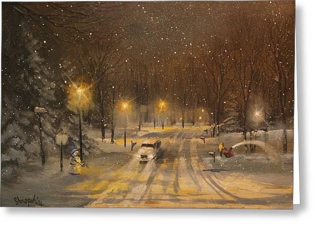 Snow for Christmas Greeting Card by Tom Shropshire