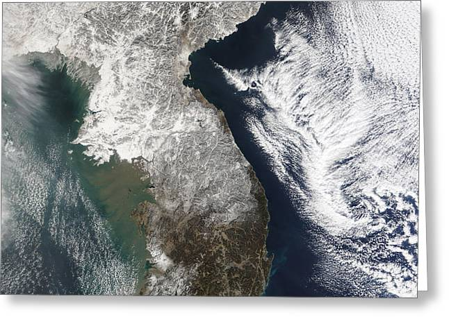 Snow In Korea Greeting Card by Stocktrek Images