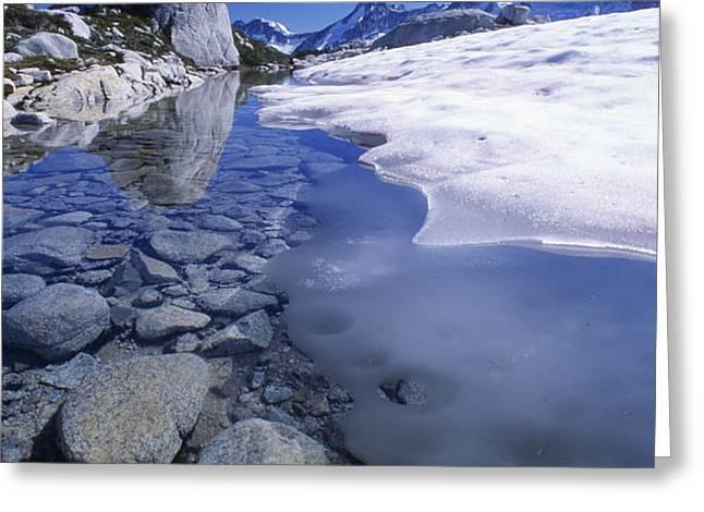 Snow Melting Greeting Card by David Nunuk