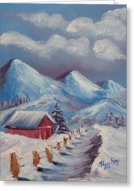 Snow Path Greeting Card by Peggy King