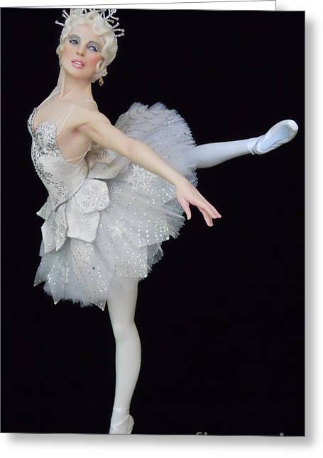Dancer Art Sculptures Greeting Cards - Snow Queen Greeting Card by Vickie Arentz