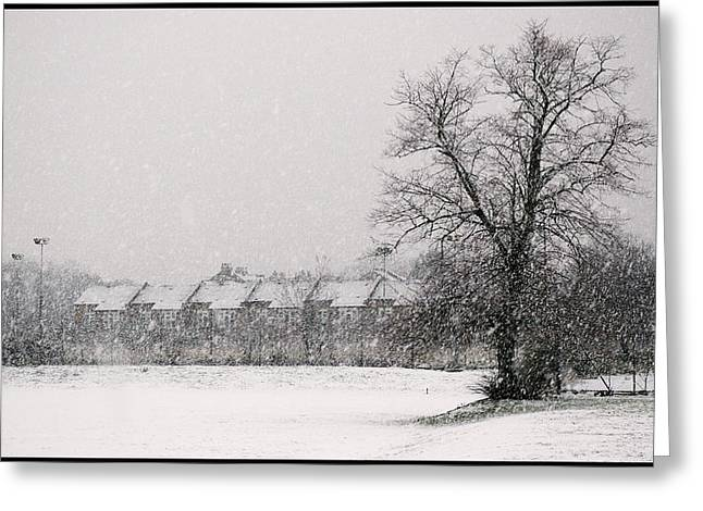 Snow Scape London SW Greeting Card by Lenny Carter
