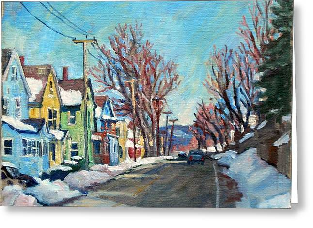 Snow Shine Berkshires Greeting Card by Thor Wickstrom