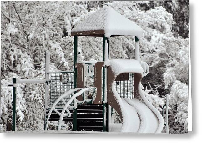 Al Powell Photography Usa Greeting Cards - Snow Slide Greeting Card by Al Powell Photography USA