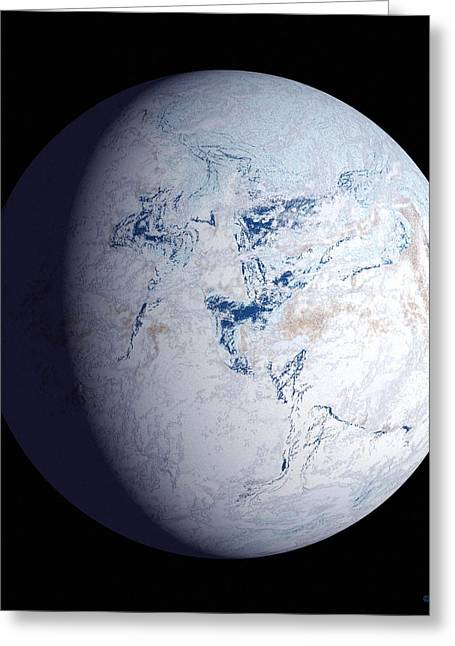 Mass Effect Greeting Cards - Snowball Earth Greeting Card by Chris Butler