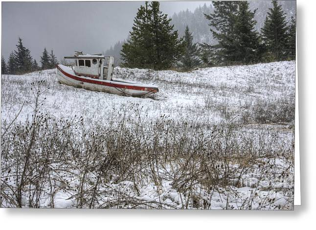 """uphill Battle"" Greeting Cards - Snowbound Greeting Card by Idaho Scenic Images Linda Lantzy"