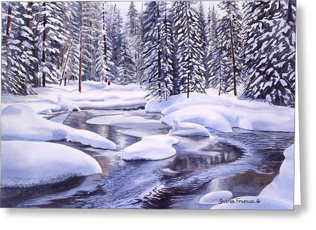 Landscape Scenery Greeting Cards - Snowbound Greeting Card by Sharon Freeman