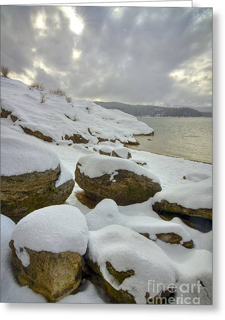 Snowcapped Greeting Card by Idaho Scenic Images Linda Lantzy