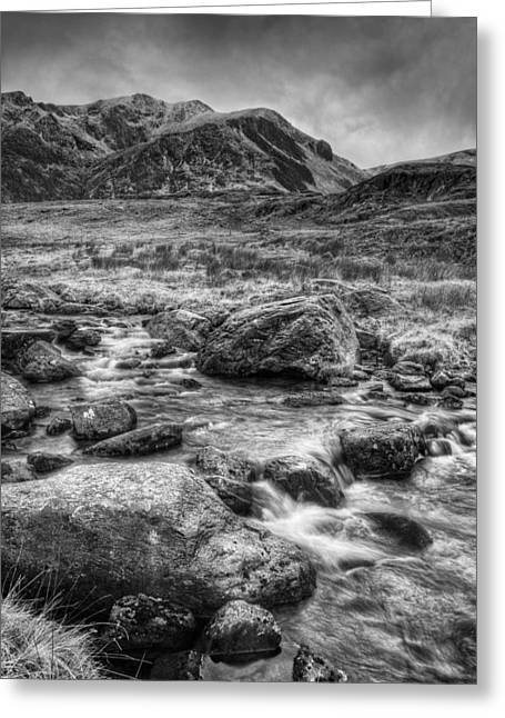 Dark Skies Greeting Cards - Snowdonia North Wales Greeting Card by Andy Astbury