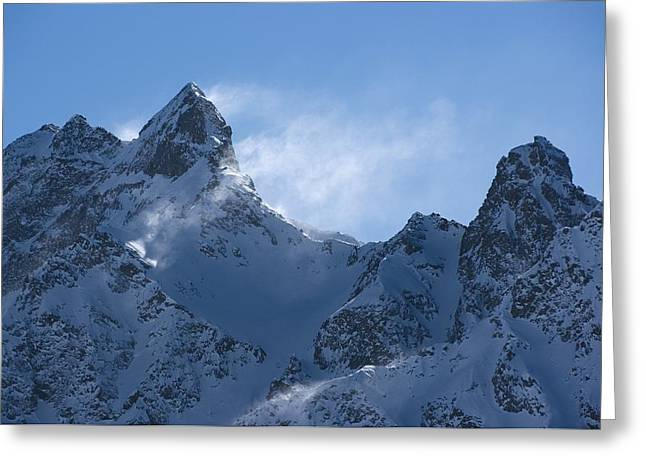 Snowdrift Formation Greeting Card by Dr Juerg Alean