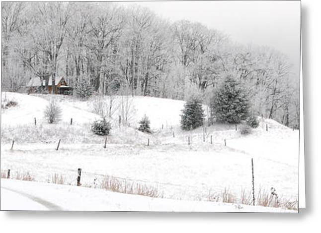 Winter Scenes Rural Scenes Photographs Greeting Cards - Snowed In Greeting Card by Alan Lenk