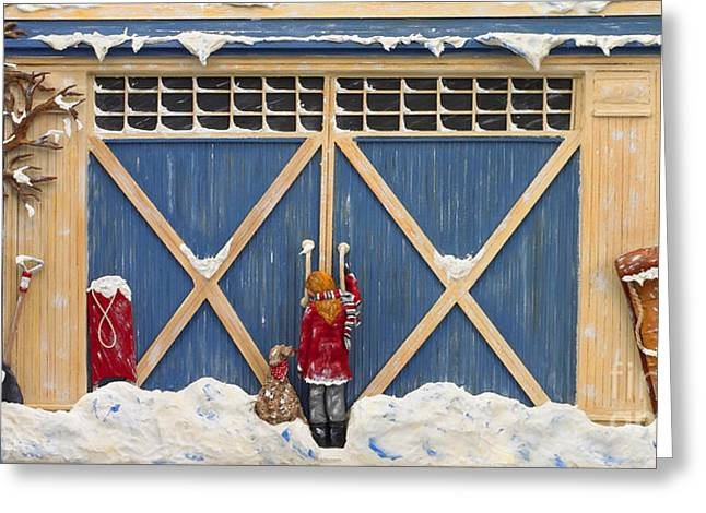 Old Sculptures Greeting Cards - Snowed In Greeting Card by Anne Klar