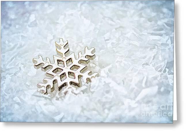 Snowflake Greeting Card by Darren Fisher