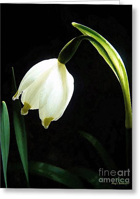 Snowflake Flower Greeting Card by Jerry L Barrett