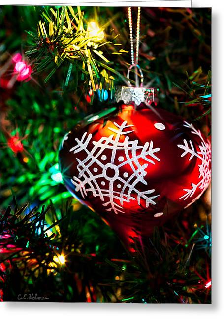 Snowflake Ornament Greeting Card by Christopher Holmes