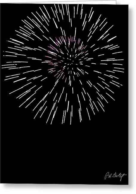 July 4th Greeting Cards - Snowflake Greeting Card by Phill  Doherty