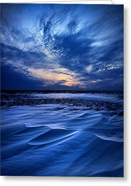 Geographic Greeting Cards - Snows Serenade Greeting Card by Phil Koch