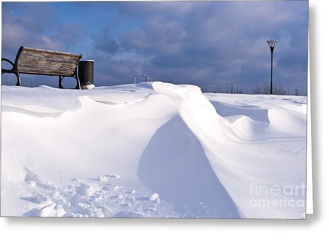 Wintry Photographs Greeting Cards - Snowy Day Greeting Card by Heiko Koehrer-Wagner