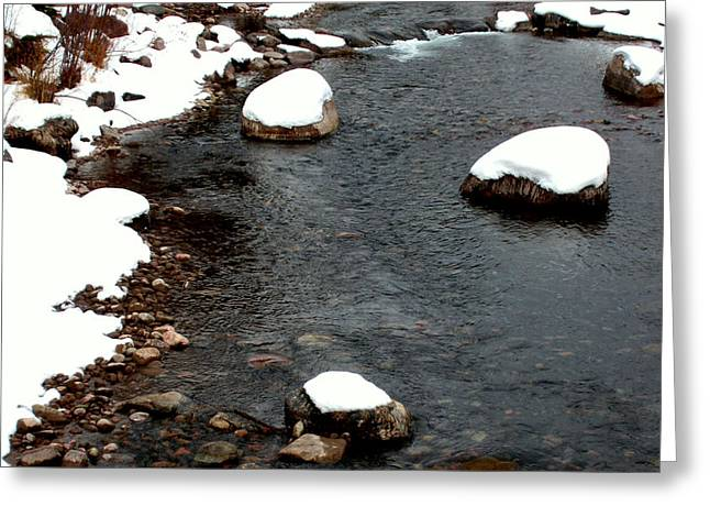 Snowy River Greeting Card by The Forests Edge Photography - Diane Sandoval