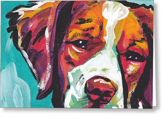 Puppies Greeting Cards - So Britt Greeting Card by Lea
