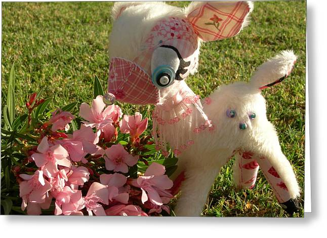 Toys Sculptures Greeting Cards - So Dear Greeting Card by Leeanne Vavra