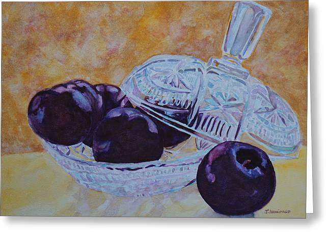 Glass Bowls Greeting Cards - So Juicy and Sweet Greeting Card by Jenny Armitage